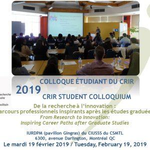 Colloque étudiant du CRIR 2019 : un succès!