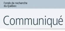 COMMUNIQUÉ – Fonds de recherche du Québec