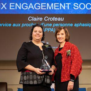 Prix engagement social – Personnel enseignant – Claire Croteau